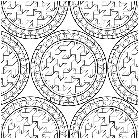 Vector seamless pattern and Thai pattern style. - Vector Stockfoto - 122424992