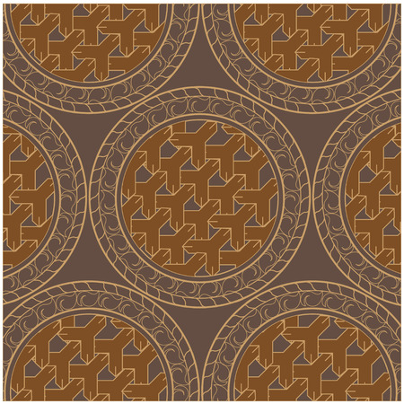 Vector seamless pattern and Thai pattern style. - Vector Stockfoto - 122424993