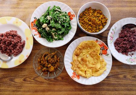 thai southern style food. homemade - photo. 版權商用圖片