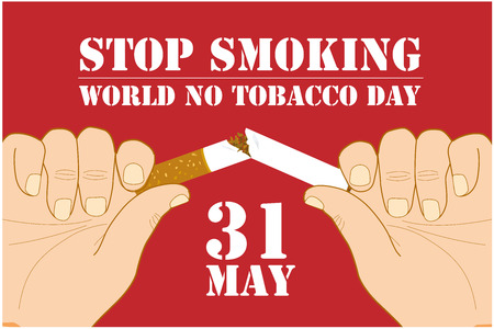 Vector illustration, or banner for world no tobacco day - Vector Stockfoto - 122491926