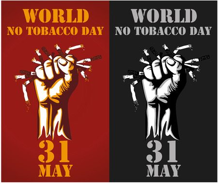 Vector illustration, or banner for world no tobacco day - Vector