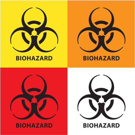 Biohazard sign. Concept of epidemic virus and quarantine for public health to protect from infections and outbreaks. 向量圖像