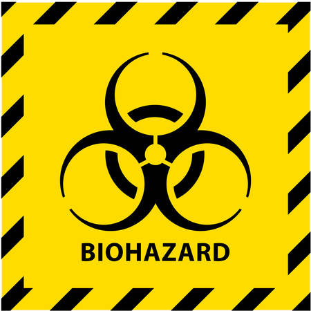 Biohazard sign. Concept of epidemic virus and quarantine for public health to protect from infections and outbreaks. Иллюстрация