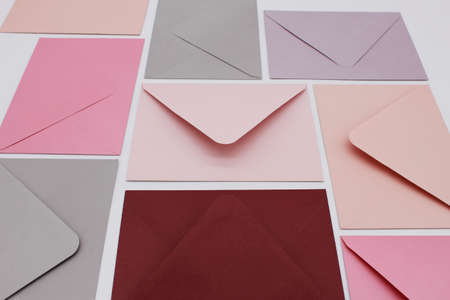 pink envelope with blank paper