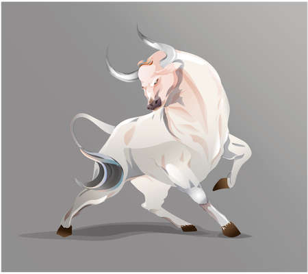 OX Vector chinese zodiac. Bull Vector.