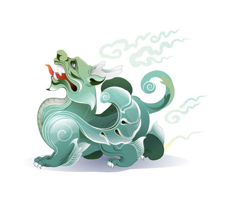Vector of Pixiu Chinese mythical hybrid creature. 向量圖像