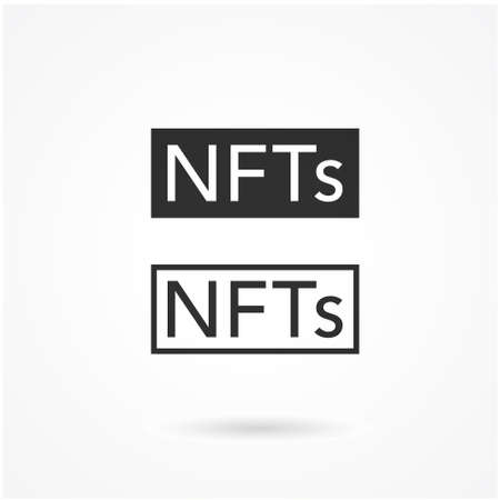 NFT Line Icon. Concept of NFT (non fungible token) vector.