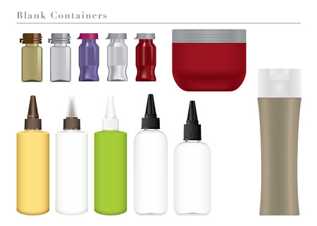 perm: Blank Colorful Containers Illustration