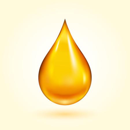 gota: Del petróleo de oro gota Vectores