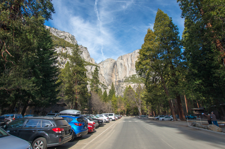 solemnity: yosemite national park,California,tourism of America Editorial