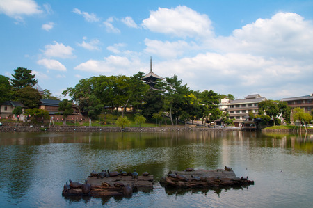storied: Kofukuji-temple,nara(prefectures),japanese traditional temples and shrines Editorial