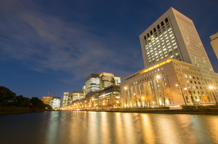 Tokyo landscape night view,tokyo(prefectures),tourism of japan Editorial