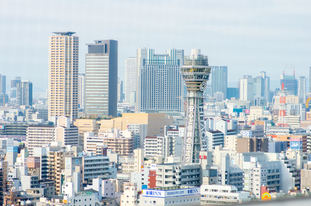 大阪、日本の観光の風景