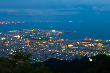 nacht: Rokko Nachtansicht, Tourismus japan Lizenzfreie Bilder
