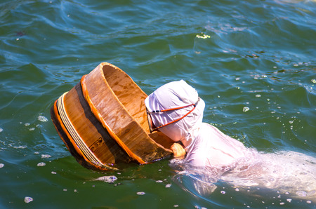 海部ダイバー、日本の漁師、三重、日本の観光 報道画像