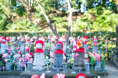 buddha statue: zojoji temple,tokyo,tourism of japan Editorial