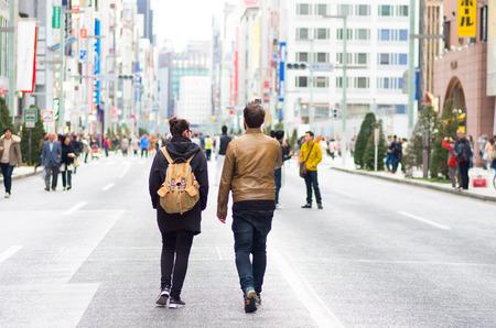 男性・女性で銀座、東京、日本