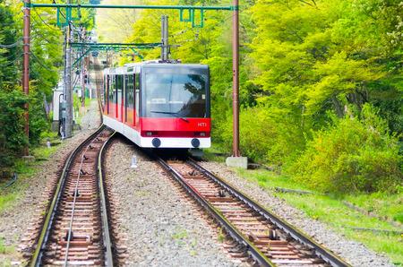 railway transportation: hakone mountain railway,kanagawa,japan