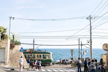 enoshima: Enoshima railway,kanagawa,japan
