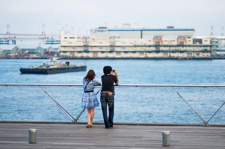 kanagawa: yokohama osanbashi bridge scene,kanagawa,japan