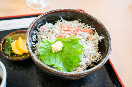 whitebait: Kettle fried whitebait japanese foods Stock Photo