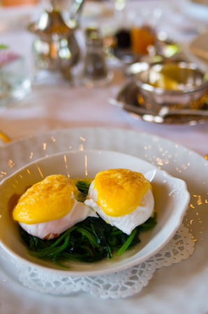 benedict: egg benedict foods Stock Photo