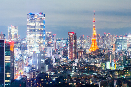 tokyo tower night view,tokyo,japan Editorial