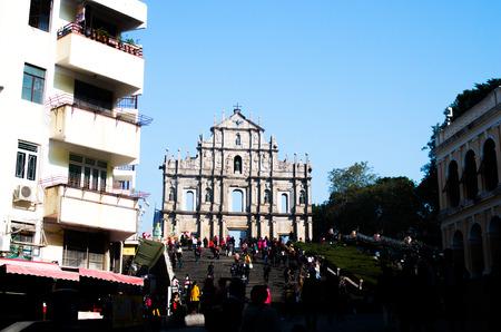 st pauls: Ruins of St. Pauls,china Editorial