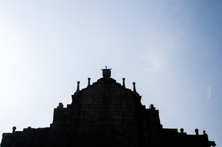 historic site: silhouette of Ruins of St. Pauls,china