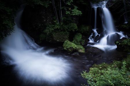 リューズブの滝日光, 栃木, 日本の観光 写真素材