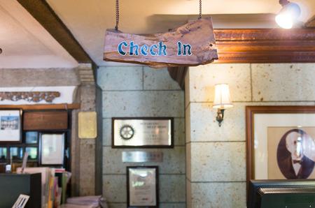 check in: check in counter,nikko,tochigi,japan