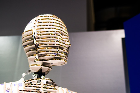 corrugated: corrugated cardboard head