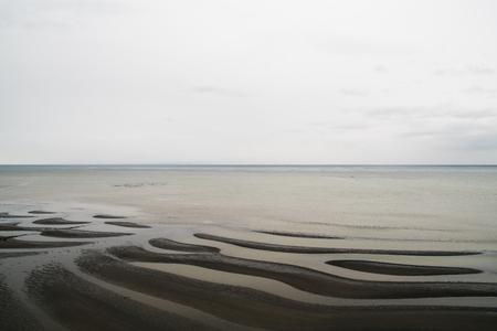 御輿来海干潟、日本の観光 写真素材