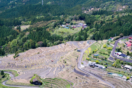 rice terrace: Maruyama rice terrace Stock Photo