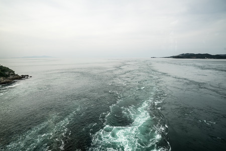 whirling: Whirling tides at naruto,tokushima,japan Stock Photo