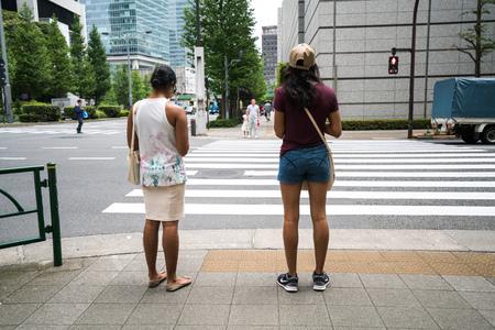 superficie: área de Marunouchi, Tokio, Japón Editorial