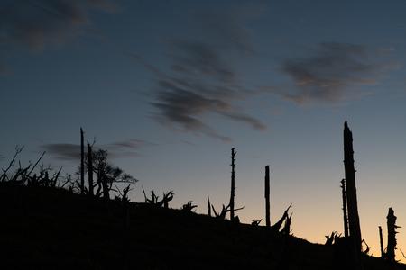 amanecer: amanecer rotura de montaña Masaki pasar a Odaigahara, Nara, Japón Foto de archivo