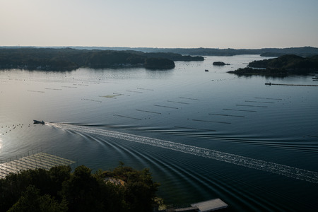 Ago bay in the morning,Iseshima area,mie prefecture,tourism of japan