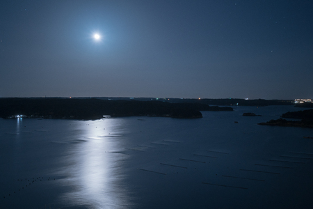 Ago bay in night time,Iseshima area,mie prefecture,tourism of japan