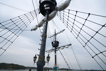 sightseeing boat,iseshima area,mie prefecture,tourism of japan 写真素材