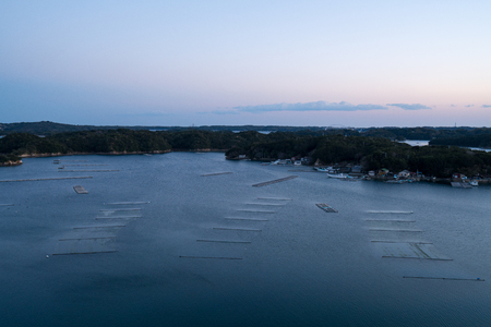 Ago bay in evening time,Iseshima area,mie prefecture,tourism of japan