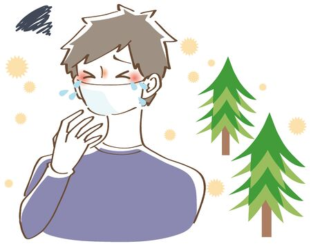 Male illustration of hay fever
