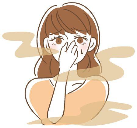 Femme mauvaise haleine Vecteurs