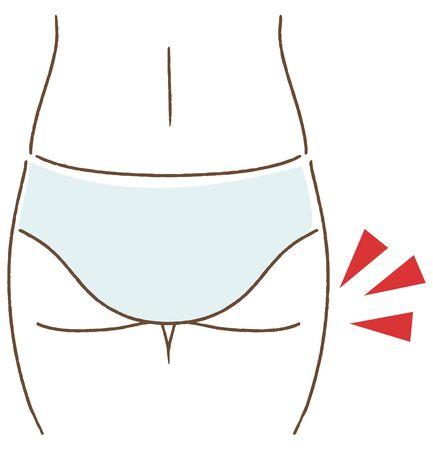 Ass sagging illustration diet vector
