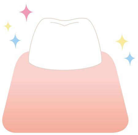 Beautiful tooth gum illustration vector