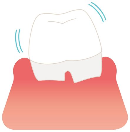 Rag painful tooth illustration vector