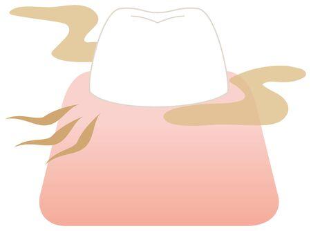Bad breath teeth illustration vector