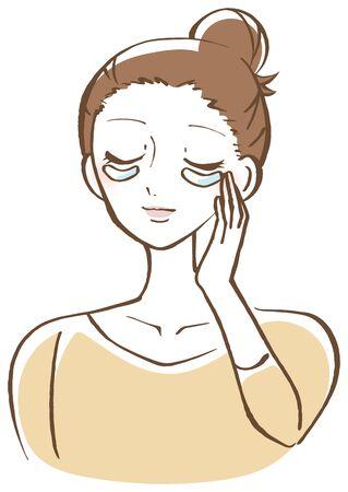 eye packer woman