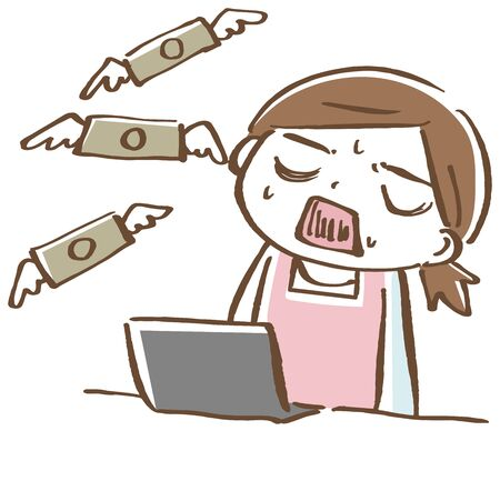 A woman who fails to earn pocket money