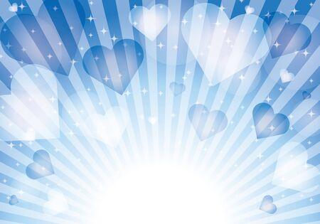 Blue heart pattern background material glitter